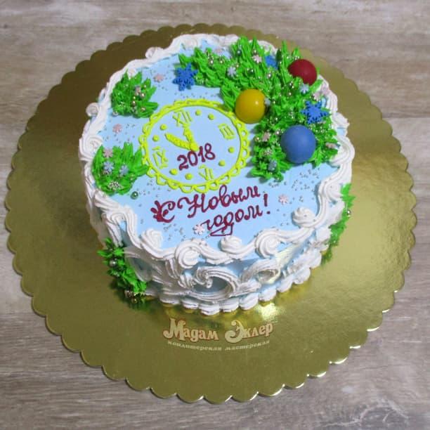торт на новый год 2018