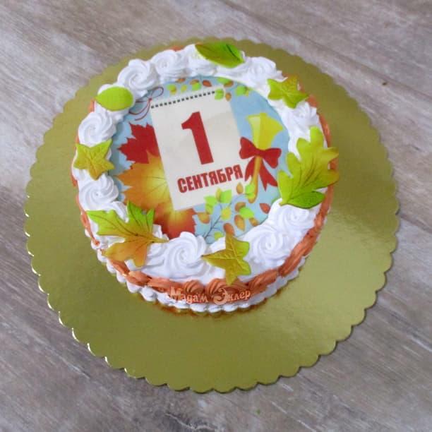 Как украсить торт к 1 сентября?