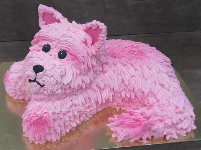 Торт собачка из сливок