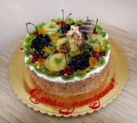 торт на заказ на день рождения с фруктами