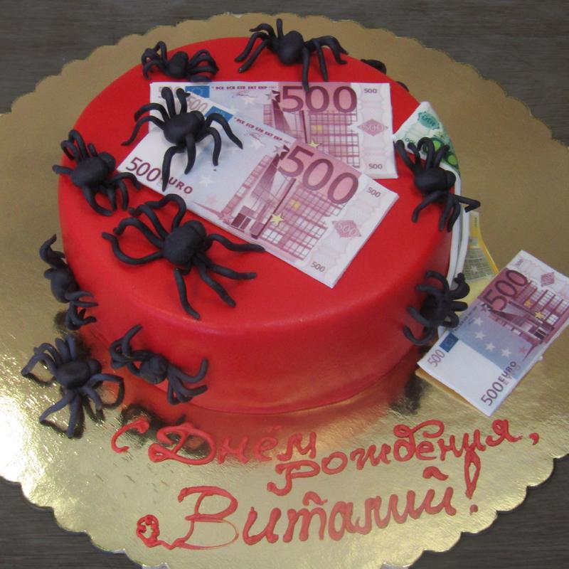 Торт для подростка с пауками
