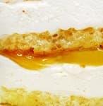 начинка - лёгкий творожный мусс с кусочками персика